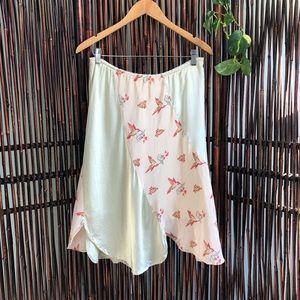 Gorgeous Silk Hummingbird skirt